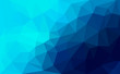 Modern blue abstract polygonal mosaic background. Geometric texture background in origami style. low poly style.