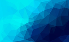 Modern Blue Abstract Polygonal...