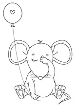 Vector Cute,  Sitting Mouse Wi...