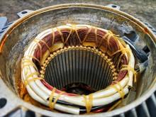Close Up Of Copper Coil Wire I...