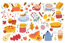 Autumn Set, Bundle Of Hand Dra...