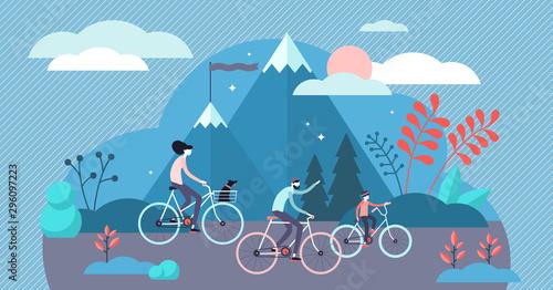 Photo Daily life bike ride vector illustration