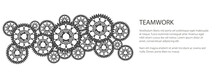 Banner Of Gear Wheels Or Cogs,...