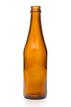 Empty Brown Glass Bottle Isola...