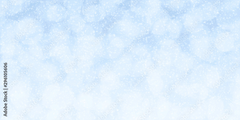 Fototapeta Winter holidays abstract background with beautiful bokeh lights and snowflakes ideal for your project or banner