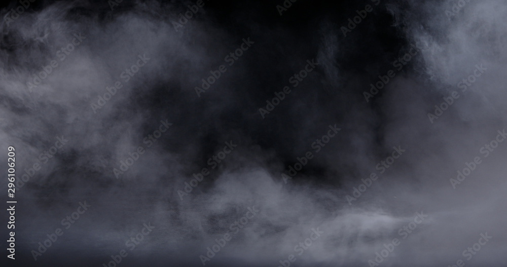Fototapeta Realistic dry ice smoke clouds fog overlay perfect for compositing into your shots. Simply drop it in and change its blending mode to screen or add.