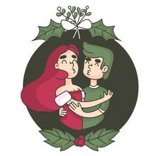 Christmas Kiss Under The Mistl...