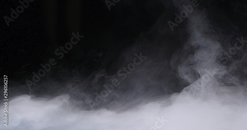 Realistic dry ice smoke clouds fog overlay perfect for compositing into your shots Canvas Print