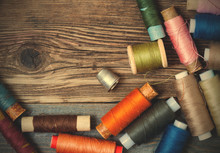 Thimble And Spools Of Thread O...