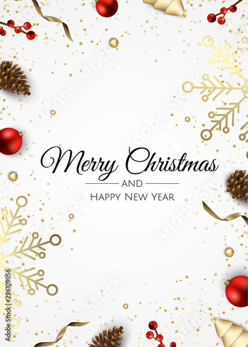 Merry Christmas and Happy New Year Wallpaper Mural