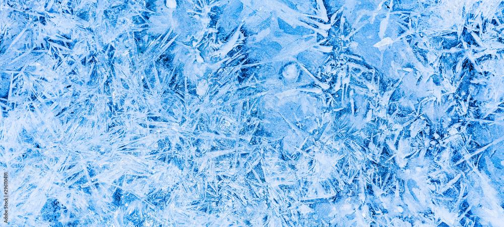 Fototapety, obrazy: Gefrorenes Eis im Winter