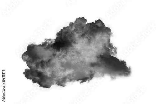 Photo  Textured Smoke,Abstract black,isolated on white background
