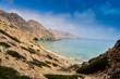 Panoramic View of Tibouda Beach, Mediterranean Moroccan Coast, Morocco