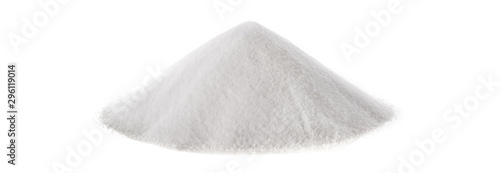 Fotografie, Obraz  Baking soda isolated on white background. Panorama view