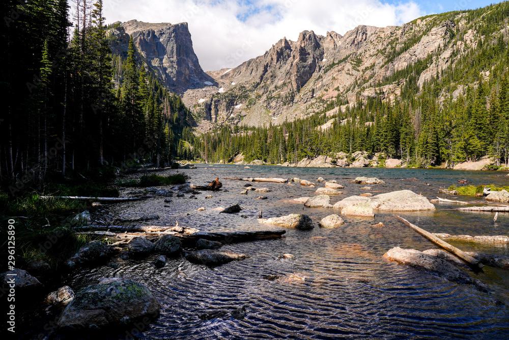 Fototapety, obrazy: Dream Lake Colorado Windy