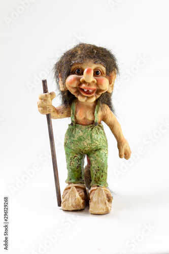 norwegian elf trolls king of woods crafts Canvas Print