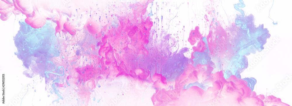 Kolory akrylowe w wodzie. Atrament zmaza. Abstrakcyjne tło.