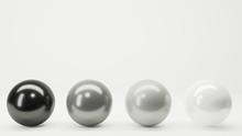 Four Balls White Black Gray