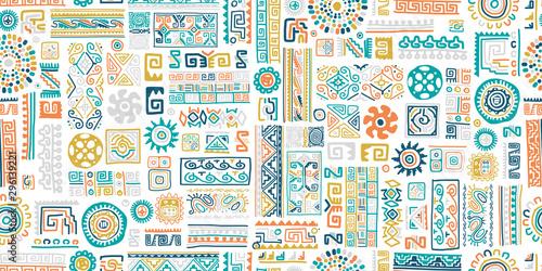 Ethnic handmade ornament, seamless pattern Slika na platnu