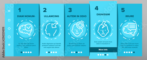 Photo  Consciousness Onboarding Mobile App Page Screen Vector Thin Line