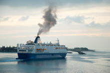 The Cruise Ship Leaving Nassau