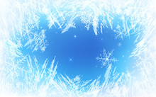 Frost Pattern Background. Froz...