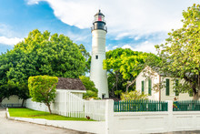 Key West Old Lighthouse In Florida USA