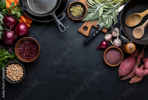 Culinary background with copy space for a text Fototapet