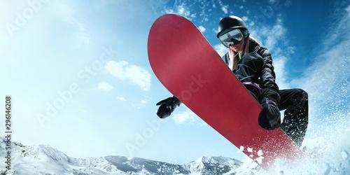 La pose en embrasure Glisse hiver Snowboarding.