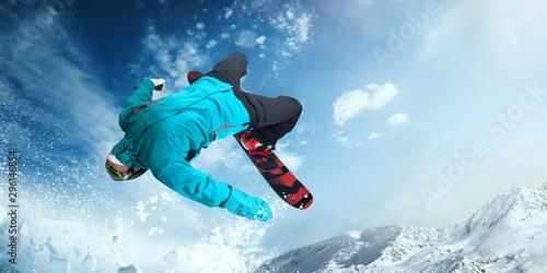 Snowboarding. Slika na platnu