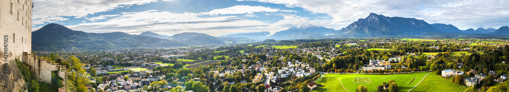 Fototapety, obrazy: salzburger land and berchtesgaden high definition panorama