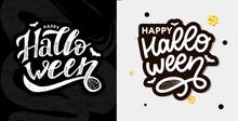 Happy Halloween Text Banner, V...
