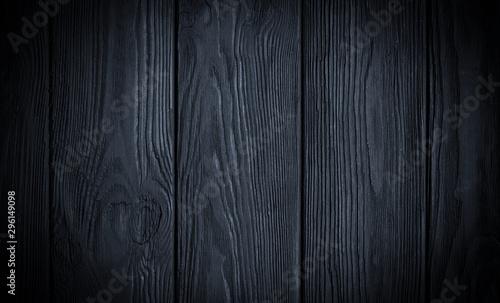 Fotografía  Black Wooden Grunge Background
