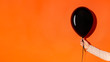 Leinwandbild Motiv Black friday balloon with copy space for advertisement