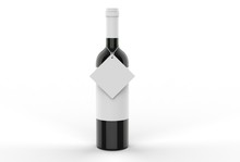 Wine Bottle With Blank Label A...
