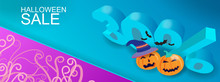 Halloween Sale Banner Design L...