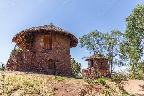 Keuken foto achterwand Oude gebouw Historical stone hut in Lalibela, Ethiopia