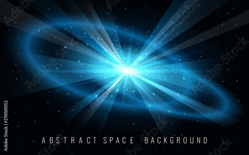Vászonkép Abstract Background with Supernova Blast in Space