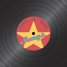 Retro Vinyl Disk. Gramophone Vinyl Record