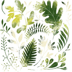 Green plants pattern. Fulls...