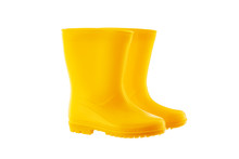 Yellow Rubber Rain Boots For K...