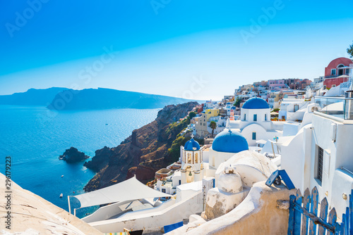 Staande foto Santorini view of santorini island greece