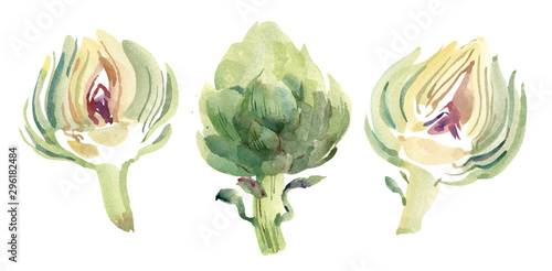 Photo Set with artichokes