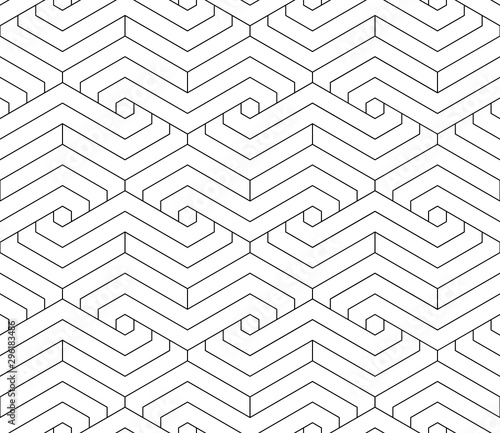 obraz PCV Vector geometric seamless pattern. Modern geometric background with hexagonal tiles.
