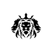 Lion Head. Logotype Of Vector Template. Inspiration Logo Lion Head Animal,
