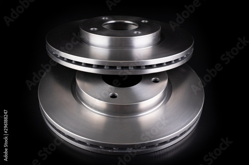 Steel brake discs for a passenger car Canvas Print
