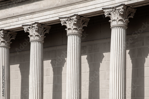 Photo Vintage Old Justice Courthouse Column