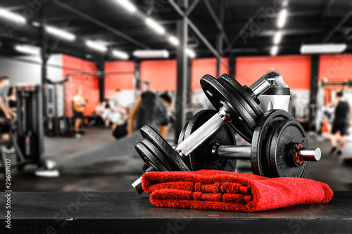 Fotografia, Obraz  Gym interior and free space for your decoration