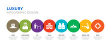 8 Colorful Luxury Vector Icons...