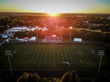 Football Game At Sunset